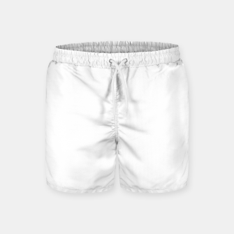 Thumbnail image of Solid Bright White  Swim Shorts, Live Heroes