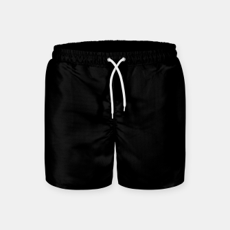 Thumbnail image of Solid Dark Jet Black Swim Shorts, Live Heroes