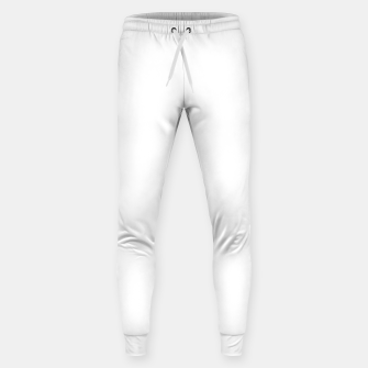 Thumbnail image of Solid Bright White  Sweatpants, Live Heroes