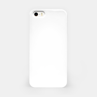 Thumbnail image of Solid Bright White  iPhone Case, Live Heroes
