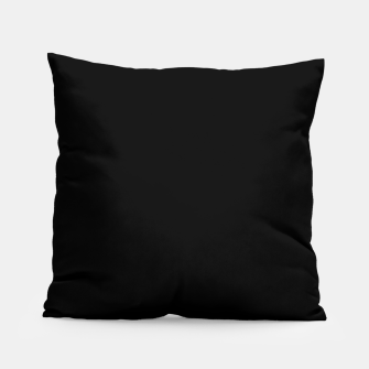 Thumbnail image of Solid Dark Jet Black Pillow, Live Heroes