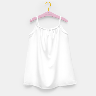 Thumbnail image of Solid Bright White  Girl's dress, Live Heroes