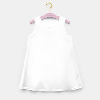 Thumbnail image of Solid Bright White  Girl's summer dress, Live Heroes