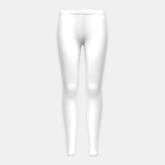 Thumbnail image of Solid Bright White  Girl's leggings, Live Heroes