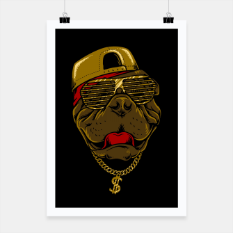 Miniatur Dog Hip Hop Style Poster, Live Heroes