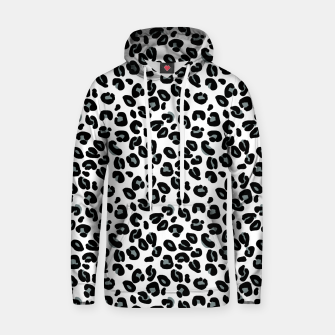 Miniatur Black and White Snow Leopard Spot Hoodie, Live Heroes
