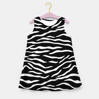 Thumbnail image of Black and White Tiger Stripe Pattern Girl's summer dress, Live Heroes