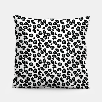 Thumbnail image of Black and White Snow Leopard Spot Pillow, Live Heroes