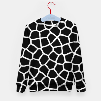 Thumbnail image of Black and White Giraffe Kid's sweater, Live Heroes