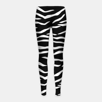 Thumbnail image of Black and White Tiger Stripe Pattern Girl's leggings, Live Heroes