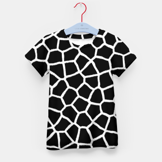 Thumbnail image of Black and White Giraffe Kid's t-shirt, Live Heroes