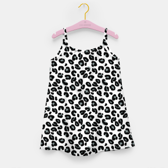Thumbnail image of Black and White Snow Leopard Spot Girl's dress, Live Heroes