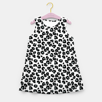 Thumbnail image of Black and White Snow Leopard Spot Girl's summer dress, Live Heroes
