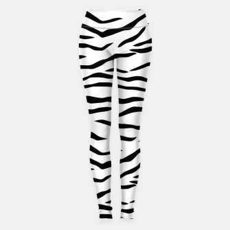 Thumbnail image of Black and White Tiger Stripe Pattern Leggings, Live Heroes