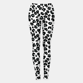 Thumbnail image of Black and White Snow Leopard Spot Leggings, Live Heroes