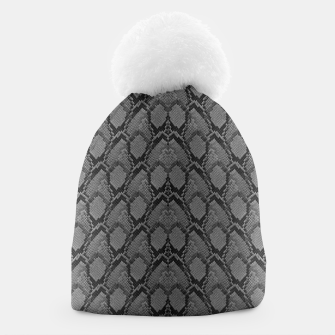 Thumbnail image of Black and White Python Snake Skin Beanie, Live Heroes