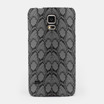 Thumbnail image of Black and White Python Snake Skin Samsung Case, Live Heroes