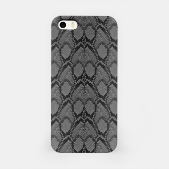 Thumbnail image of Black and White Python Snake Skin iPhone Case, Live Heroes