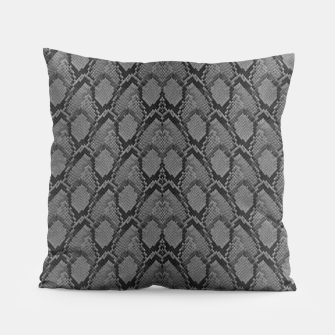 Thumbnail image of Black and White Python Snake Skin Pillow, Live Heroes