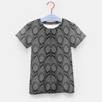 Thumbnail image of Black and White Python Snake Skin Kid's t-shirt, Live Heroes