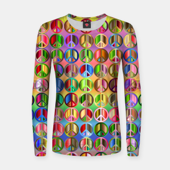 Thumbnail image of Colorfull peace Women sweater, Live Heroes