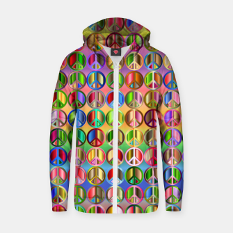Thumbnail image of Colorfull peace Zip up hoodie, Live Heroes
