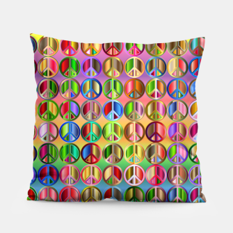 Thumbnail image of Colorfull peace Pillow, Live Heroes