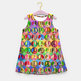 Thumbnail image of Colorfull peace Girl's summer dress, Live Heroes