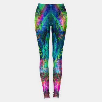 Miniaturka Sweet Dizzy Skull (psychedelic, abstract) Leggings, Live Heroes