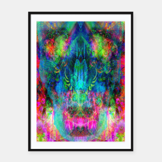 Thumbnail image of Sweet Dizzy Skull (psychedelic, abstract) Framed poster, Live Heroes