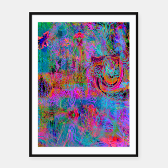 Miniatur Wild Cat's Mind (abstract, psychedelic) Framed poster, Live Heroes