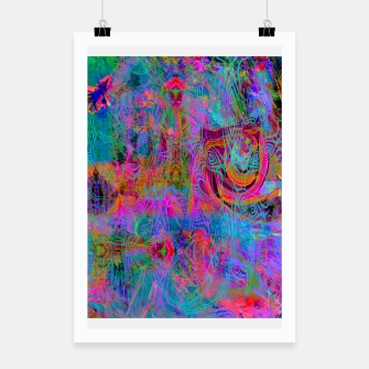 Miniatur Wild Cat's Mind (abstract, psychedelic) Poster, Live Heroes