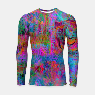 Miniatur Wild Cat's Mind (abstract, psychedelic) Longsleeve rashguard , Live Heroes
