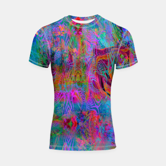 Miniatur Wild Cat's Mind (abstract, psychedelic) Shortsleeve rashguard, Live Heroes