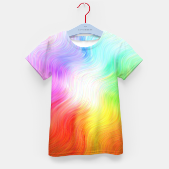 Miniatur Psychedelic waves Kid's t-shirt, Live Heroes