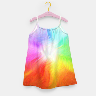 Miniatur Psychedelic waves Girl's dress, Live Heroes