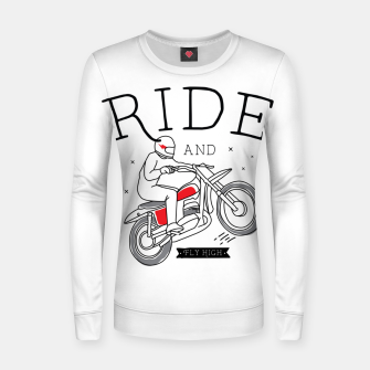 Miniatur Ride and Fly High Women sweater, Live Heroes