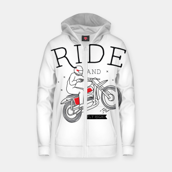 Miniatur Ride and Fly High Zip up hoodie, Live Heroes