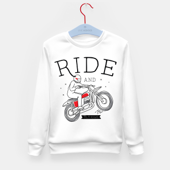 Miniatur Ride and Fly High Kid's sweater, Live Heroes