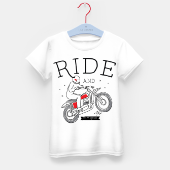 Miniatur Ride and Fly High Kid's t-shirt, Live Heroes