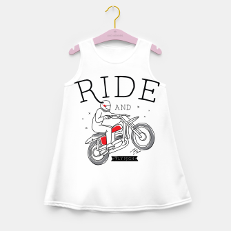Miniatur Ride and Fly High Girl's summer dress, Live Heroes