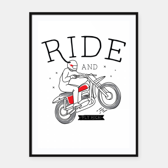 Miniatur Ride and Fly High Framed poster, Live Heroes
