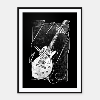 Thumbnail image of Guitarist Framed poster, Live Heroes