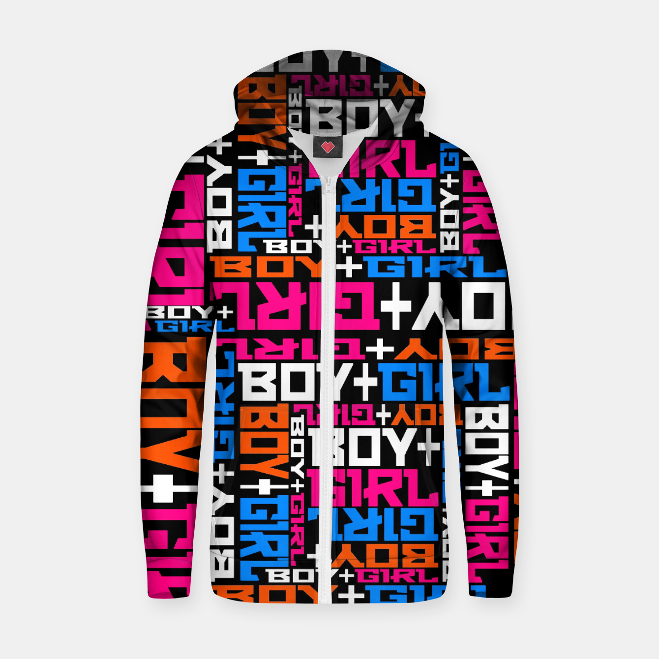 Foto BOY + GIRL Zip up hoodie - Live Heroes