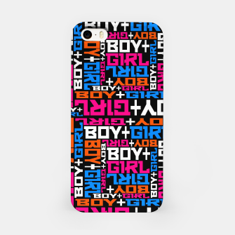 Miniatur BOY + GIRL iPhone Case, Live Heroes