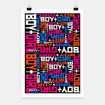 Miniatur BOY + GIRL Poster, Live Heroes