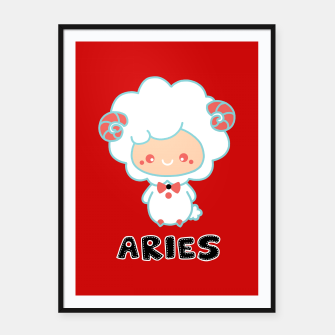 Thumbnail image of aries Framed poster, Live Heroes