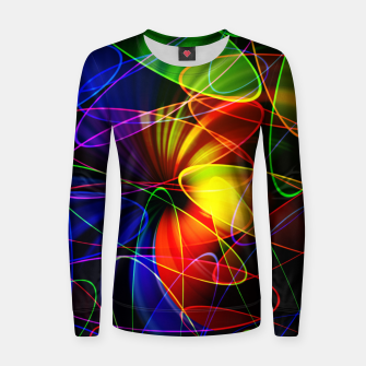 Thumbnail image of Psychedelic Fractal Women sweater, Live Heroes