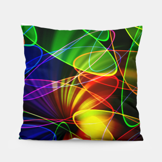 Thumbnail image of Psychedelic Fractal Pillow, Live Heroes