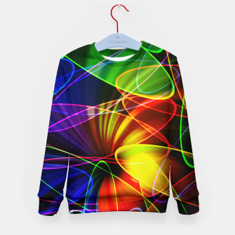 Thumbnail image of Psychedelic Fractal Kid's sweater, Live Heroes